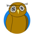 wise owl sticker vector image vector image