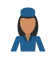 female flight attendant avatar icon image vector image
