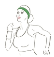 Running woman sketch vector image