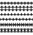 Set of borders vector image