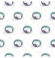 tuna roll sushi seamless white pattern vector image