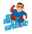 superhero t-shirt kids vector image