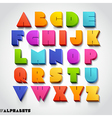 3D alphabet colorful font vector image vector image