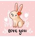 a cute rabbit vector image vector image