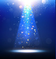 Abstract Blue Christmas Design vector image vector image