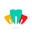Abstract teeth dental care logo vector image