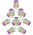 abstract tree made from cute flowers vector image vector image