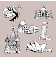 architecture monuments vector image vector image