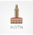 austin usa detailed silhouette vector image vector image
