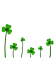 Background with clover in vector image vector image