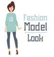 Beautiful cartoon fashion girl model vector image vector image