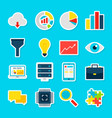 big data stickers vector image vector image