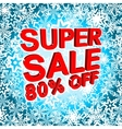Big winter sale poster with SUPER SALE 80 PERCENT