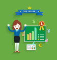 business concept top seller vector image vector image