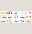 business presentation charts finance reports vector image