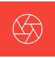 Camera shutter line icon vector image