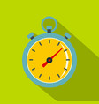 chronometer icon flat style vector image vector image