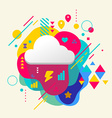 Cloud on abstract colorful spotted background with vector image