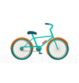 Colorful bike on the road vector image