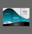 corporate tri fold business brochure design templa vector image vector image
