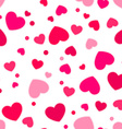 Cute pink and red hearts vector image vector image