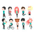 cute school kidshappy kids cartoon collection vector image