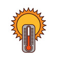 cute sun with termometer vector image vector image