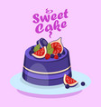 delicious berry cake cartoon social media banner vector image vector image