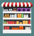 different products boxes packages and bottles on vector image vector image
