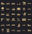 different transport icons set simple style vector image vector image
