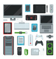 electronic computer devices gadgets icons vector image