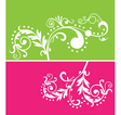 floral vines vector image vector image