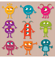 Friendly monsters set vector image