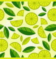 fruit seamless pattern juicy slice piece lemon vector image vector image