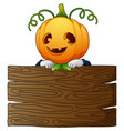 halloween cartoon scarecrow vector image vector image