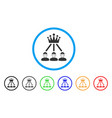 hierarchy men rounded icon vector image vector image