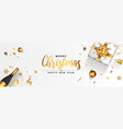 holiday new year greeting card - merry christmas vector image
