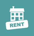 house for rent in flat style on isolated vector image vector image
