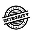 Integrity rubber stamp vector image vector image