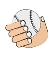 Isolated baseball toy design vector image vector image