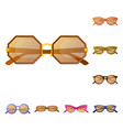 isolated object of glasses and sunglasses symbol vector image