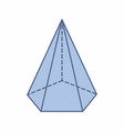 isolated pentagonal pyramid vector image vector image