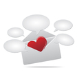 Love mail and speech balloon vector image vector image
