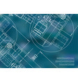 mechanical engineering drawing blueprints blue vector image