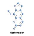 methoxsalen dermatology drug vector image vector image