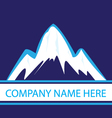 Mountains in navy color logo vector image vector image