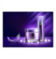 night cream cosmetic creative promo poster vector image vector image