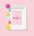 paper flower frame background vintage background vector image