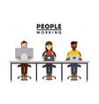 people working design vector image