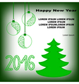 postcard with fir tree and new year toys vector image vector image